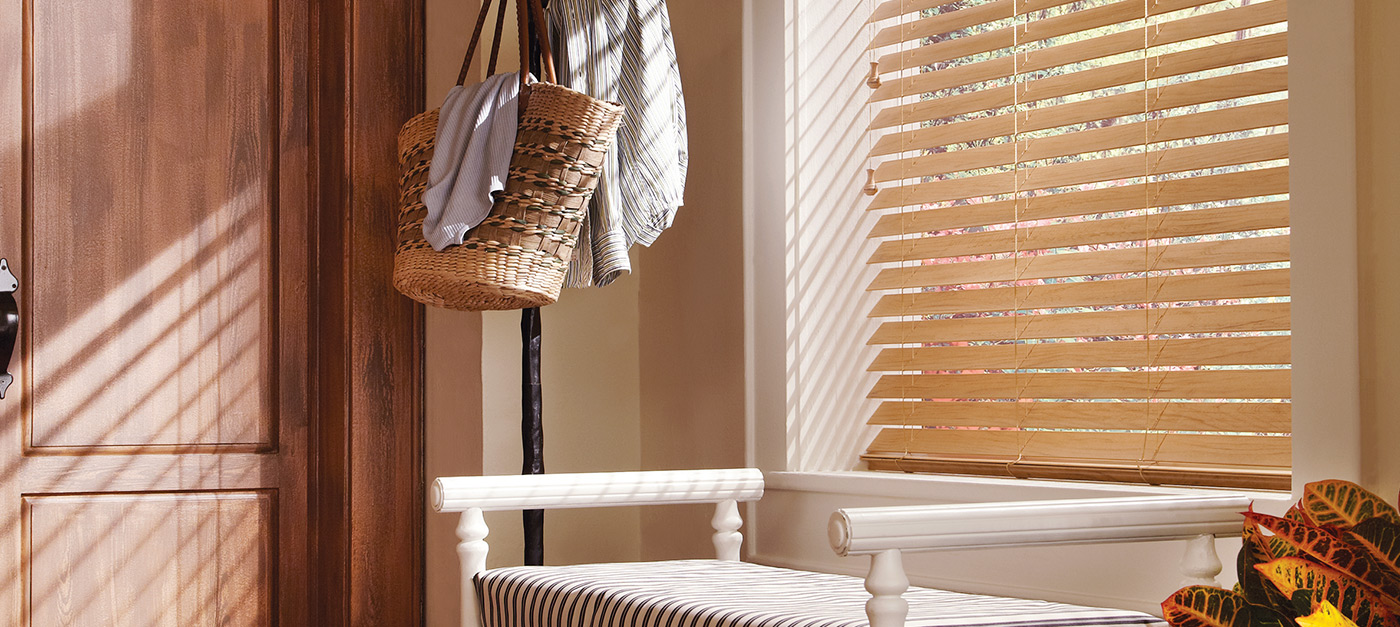 Add The Richness Of Wood At Less Cost With Faux Wood Blinds